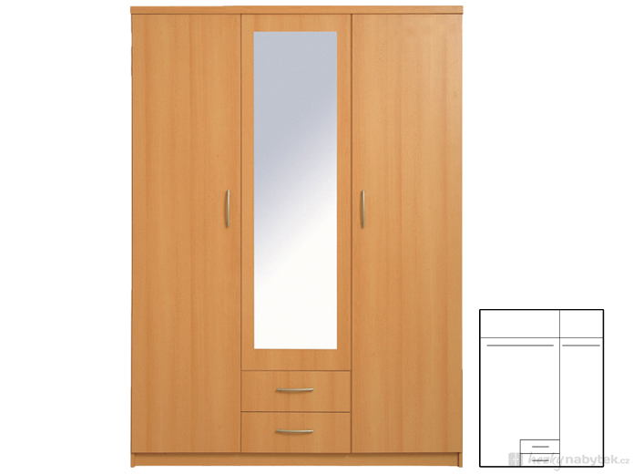 Šatní skříň - BRW - Ida 3D2S